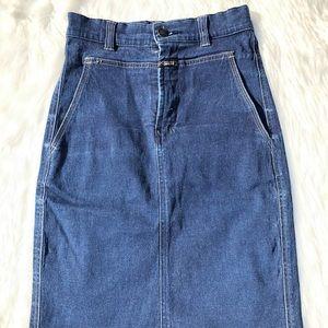 Marithe + Francois Girbaud vintage jean skirt sz2
